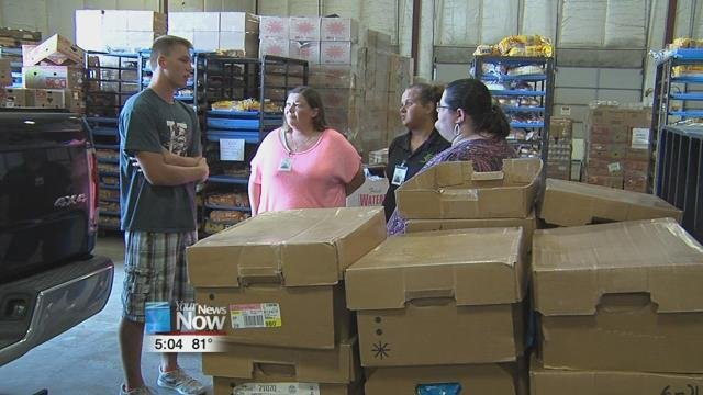 Skyler Tavenner, a senior at Indian Lake High School, saved up enough money to donate 12 hundred pounds of chicken to the West Ohio Food Bank.