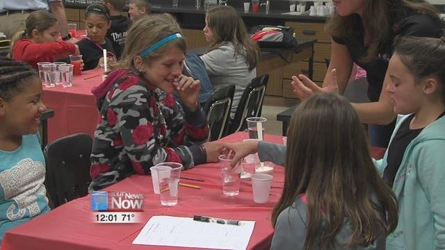 Each group of students had five testing cups, a cup of sugar, tasting cups, and a cup of Kool-Aid powder.