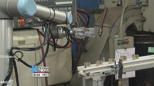Officials with Randall Bearings tell us they are now looking at ways to use more robotic technology in the future.