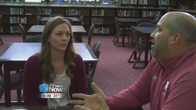"""Van Wert High School Junior, Kylee Bagley was one of the winners for the """"It Can Wait"""" challenge about distracted driving."""