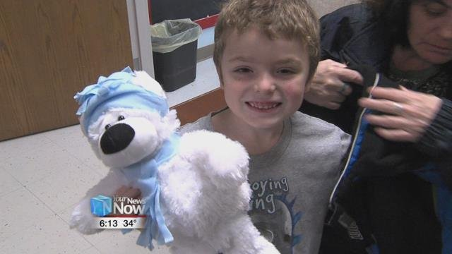 These stuffed polar bears are putting smiles on the faces of children who receive them.