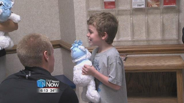 The ONU students also delivered polar bears to Hardin Memorial Hospital in Kenton.