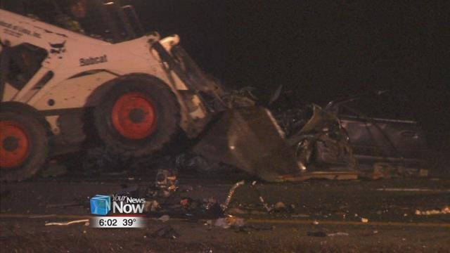 A Brookville, Ohio man is dead after a multi-vehicle crash on the interstate Friday night.