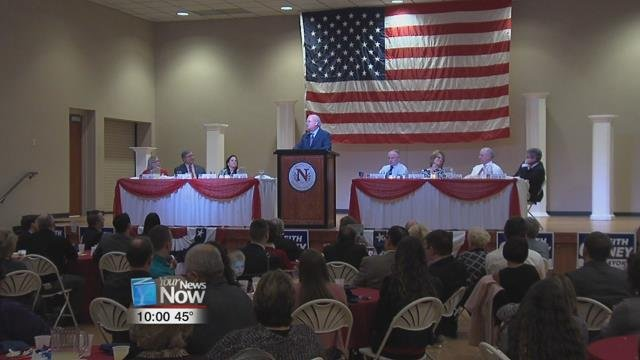 Karl Rove served as the keynote speaker at the Republican party's Lincoln Reagan Day Heritage Dinner.