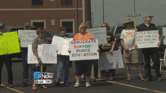 The group made clear that they were against privatizing the educational system through charter schools, which DeVos has advocated for in the past.
