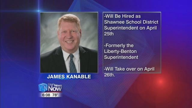 The school board will vote to hire James Kanable to replace Interim Superintendent Don Wade at their April 25th meeting.