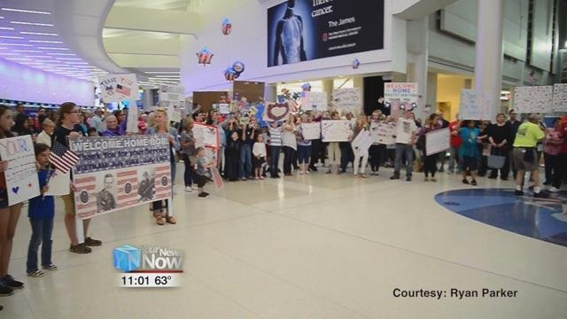 Bob Whitaker received the welcome home he had never experienced when returning from an Honor Flight