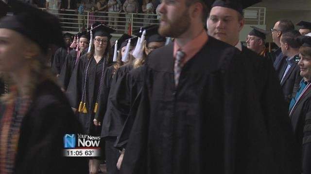 More than 400 Undergraduate students received their degrees during the Ohio Northern University Commencement ceremony