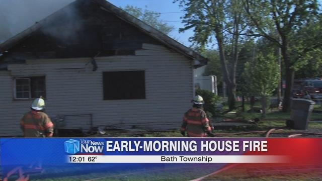 The Bath Township Fire Department responded to a report of a house fire at 1257 North Adams Street shortly before 5 a.m. Monday morning.