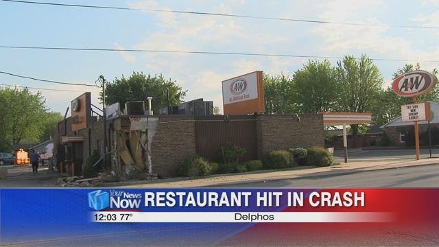 This accident happened at the A&W restaurant on East 5th Street shortly after 7 a.m.