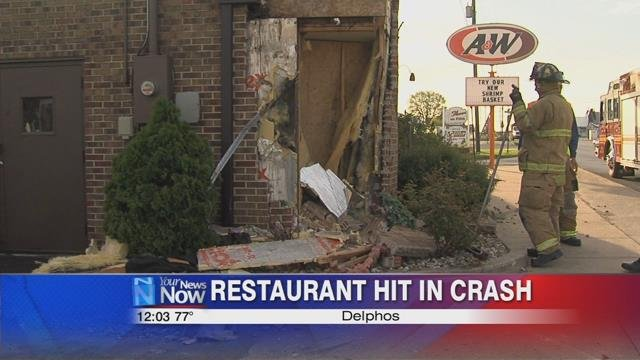 The collision caused considerable damage to the building, enough to see into the kitchen from the outside.