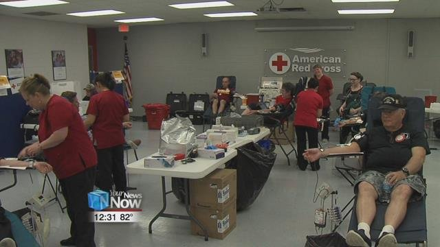 Blood drives at the American Red Cross in Lima are held on the 1st and 3rd Tuesday of every month from 10am to 4pm and noon to 6pm respectively.