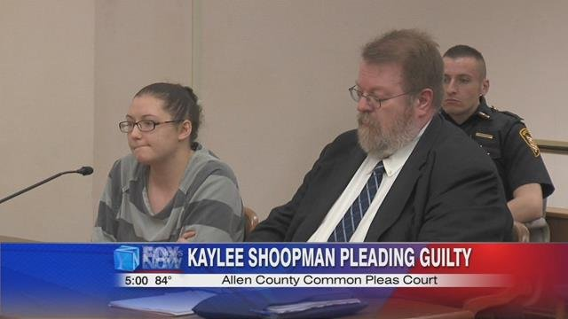 26-year-old Kaylee Shoopman pleading guilty this morning to two counts of felony robbery.
