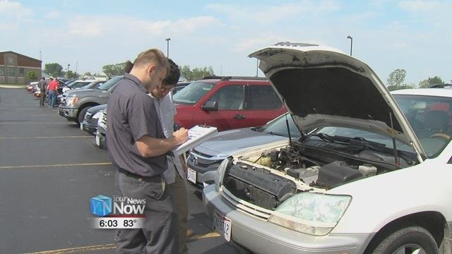 AAA decided to host a car check up for students at Allen East High School.