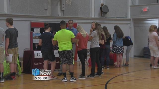 Shawnee Middle School hosted a career fair for grades six through eight.