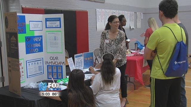 Students were able to visit five different career booths that matched their personal interests.