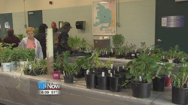 The Lima Garden Club and the Happy Hour Garden Club set up shop at the LACNIP Resource Center for their annual sale.