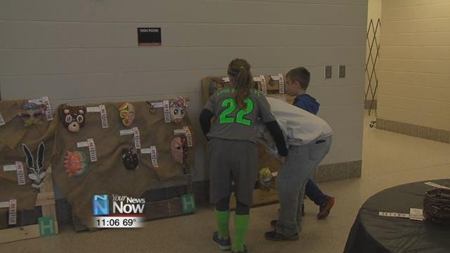 The annual district art exhibit showcases around 800 pieces of art from grades Kthrough 12 in the Elida School District.