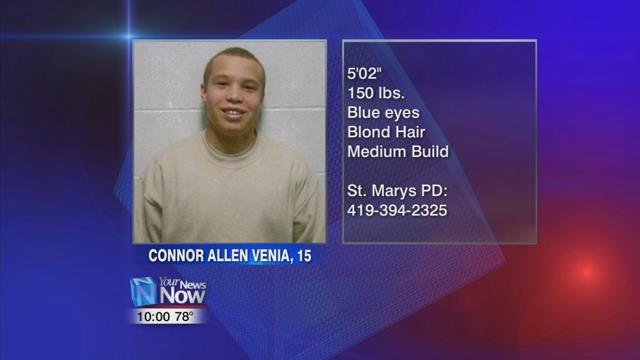 If you have information on where he is now, call St. Marys Police at 419-394-2325.