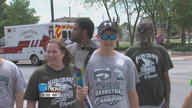 Monday afternoon they ran across Allen County alongside law enforcement to raise money for the games.