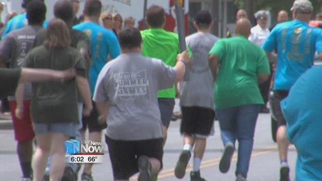 The Lima leg of the event part of a statewide torch run brought to the city by of the Lima Police Department ending at the town square.