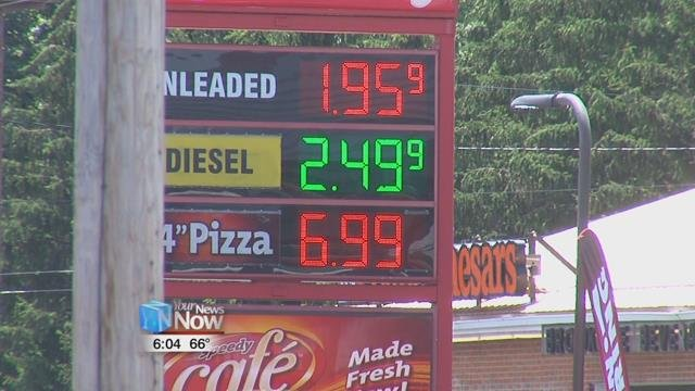 Gas prices near lowest of the year