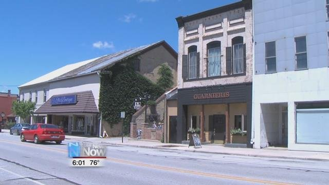 Different downtown buildings have been donated to the city, and city officials are encouraging people to purchase those buildings to fix them up and bring in business.