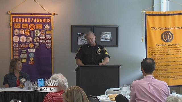 Sgt. Garlock talked about the different partnerships the C.O.P. Program has gained over the years, and its efforts to help out the people of our area, by making officers available throughout the city.