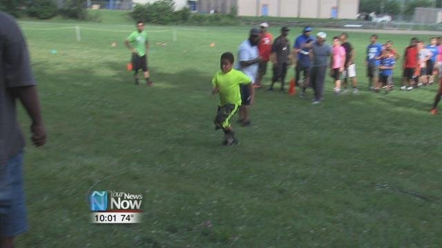 Over at Faurot Park, young boys and girls are starting conditioning for the upcoming Midget Football season.