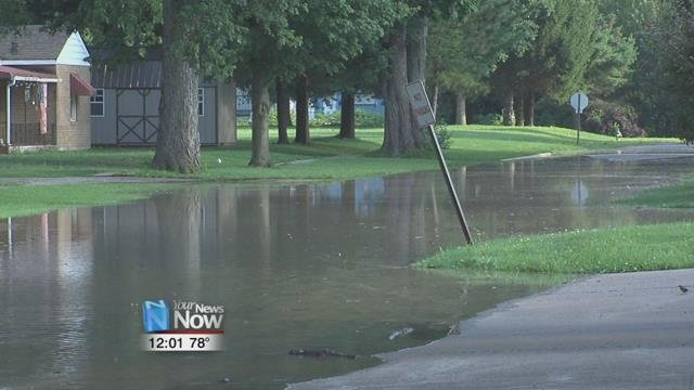 Many residents are stuck in their homes due to high water and may be there for several days.