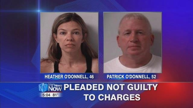 ccording to news reports, the 13-year-old girl claims Patrick O'Donnell touched her inappropriately while his wife failed to report it to police.