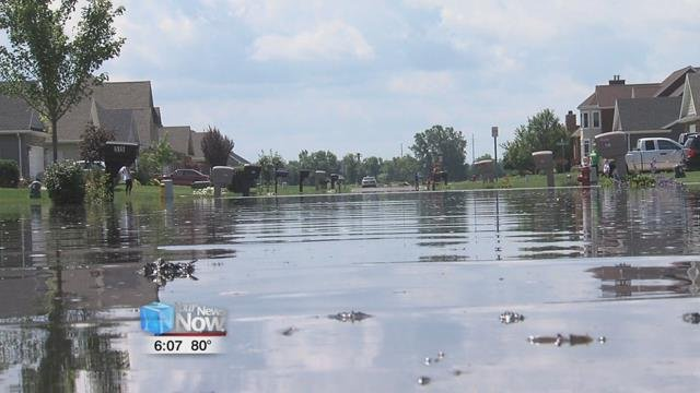 The City of Findlay is also seeing major flooding.