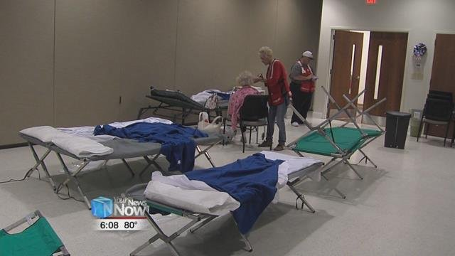 The Red Cross in Findlay has opened a disaster shelter at 50 North on Melrose Avenue.