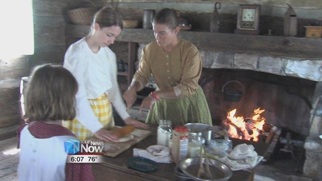 The day featured re-enactors representing people from the 19th century that might have settled in Allen County.