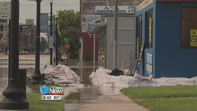 Flooding affected residential neighborhoods as well as the downtown area.