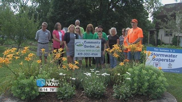 The $2,500 grant is being matched by LACNIP, which has enabled the Collett Street Garden to expand.
