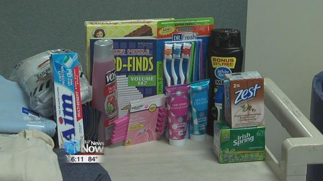 The Chained Eagles in partnership with Senior Citizens Services is collecting personal hygiene items, clothes, snacks, and other products for veterans at the Dayton V.A. Hospital.