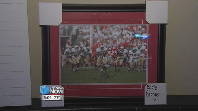 Besides the billiards tournament, there will be a 50-50 drawing and raffle items, including a autographed picture of Eddie George.