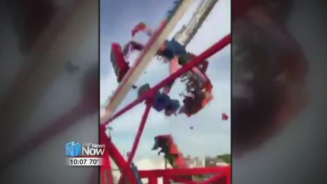 The Dutch manufacturer of a thrill ride that broke apart and killed an 18-year-old man says excessive corrosion on a support beam led to a catastrophic failure.