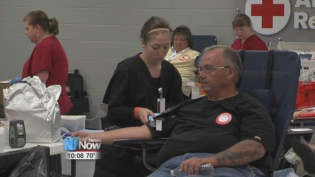 There is a chronic blood shortage as donations are down and all blood types are needed.