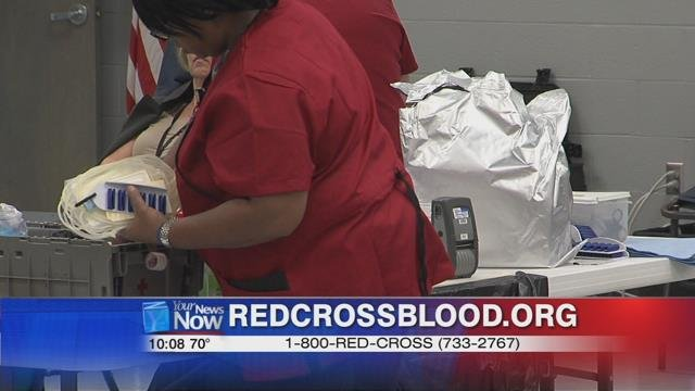 To locate a drive near you log onto http://www.redcrossblood.org/ or by calling 1-800-REDCROSS.