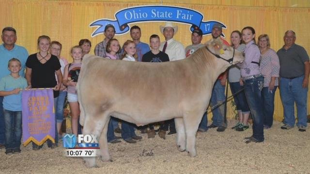 13-year-old Montana Hulsmeyer's steer sold for $36,000.