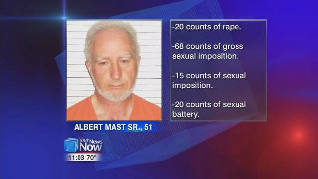 51-year-old Albert Mast Sr. is pleading not guilty to 123 counts that were contained in the indictment.