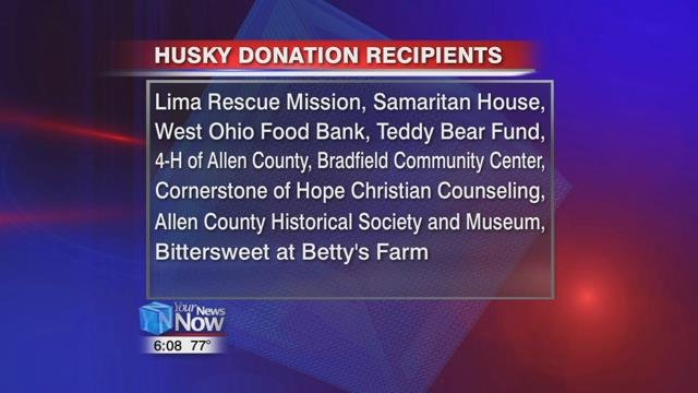 Husky hopes such significant donations will help grow the community through the organizations that rely on it.