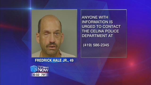 Celina Police Department arrested 49-year-old Fredrick Hale Jr. formerly of Celina.