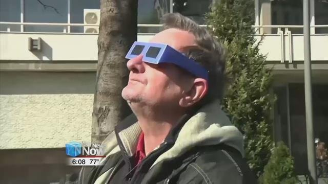 The important thing is not to look directly at the eclipse.