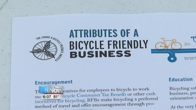 To find out more about becoming a bike friendly business and biking to work log onto www.bikeleague.org/business.