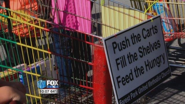 They are asking anyone attending the fair parade to bring a food item or two to help the cause.