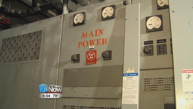 The major switch gear still needs to be replaced before the plant will be on its own power.