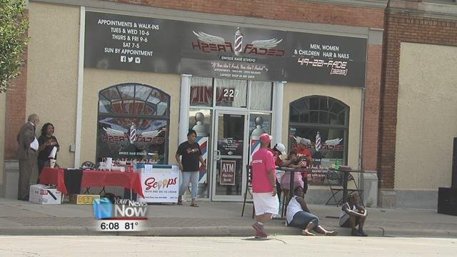 Fresh and Faded Unisex Hair Studio sponsored the second annual Back 2School Block Party Sunday afternoon.